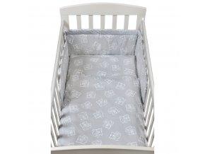 2-dielné posteľné obliečky New Baby 90/120 cm bears sivé