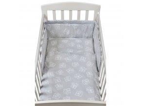 3-dielne posteľné obliečky New Baby 90/120 cm bears sivé