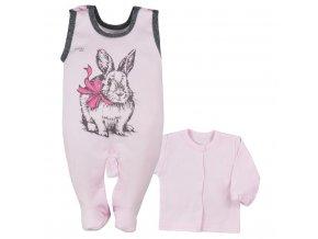 2-dielna dojčenská súprava Koala Anitka ružovo-sivá