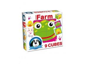 Skladacie obrázkové kocky Farm animals