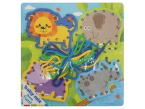 Drevená prepletacia hračka Baby Mix Safari