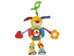 Detská plyšová hračka s hrkálkou Baby Mix psíček