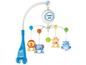 Elektrický kolotoč nad postieľku Baby Mix zvieratká
