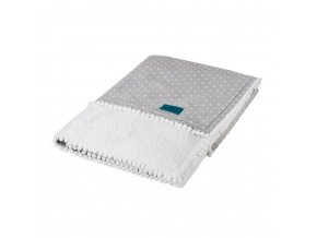 Detská deka Belisima Amore Mio sivo-biela 75x100 cm