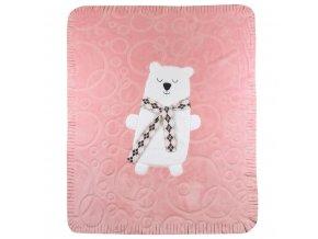 Detská deka Koala Polar Bear ružová