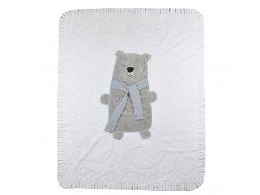 Detská deka Koala Polar Bear biela