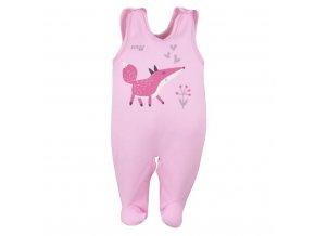 Dojčenské bavlnené dupačky Koala Happy Baby ružové