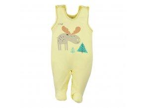 Dojčenské bavlnené dupačky Koala Happy Baby žlté