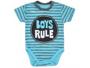 Dojčenské letné body Koala Boys Rule modré