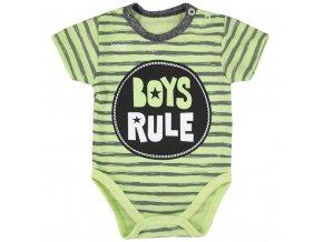 Dojčenské letné body Koala Boys Rule zelené