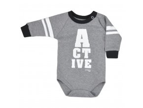 Dojčenské body Koala Active sivé