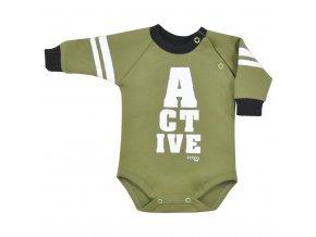 Dojčenské body Koala Active zelené