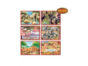 Skladacie obrázkové kocky 12 ks safari