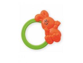 Detská hrkálka Baby Mix zajačik oranžový