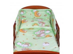 <p>3-dielne posteľné obliečky New Baby 100/135 cm zelené s medvedíkom</p>