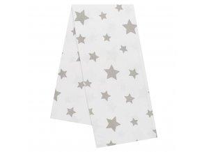 Flanelová plienka s potlačou New Baby biela hviezda sivá