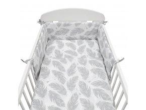 3-dielne posteľné obliečky New Baby 90/120 cm Pierka biele
