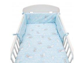 3-dielne posteľné obliečky New Baby 90/120 cm Králičky modré