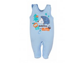 Dojčenské dupačky Bobas Fashion Ježko modré