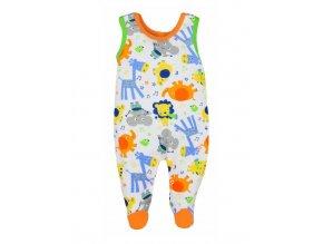 Dojčenské dupačky Bobas Fashion Zoo oranžové