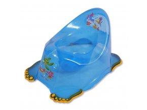 Detský nočník protišmykový modrý aqua
