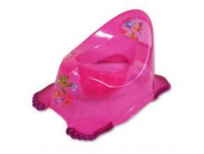 Detský nočník protišmykový ružový aqua