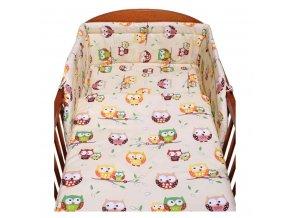 3-dielne posteľné obliečky New Baby 100/135 cm bežové so sovou
