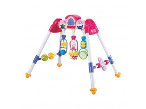 Detská hrajúca edukačná hrazdička De Lux Baby Mix pink