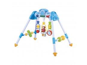 Detská hrajúca edukačná hrazdička De Lux Baby Mix blue