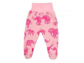 Zimné dojčenské polodupačky Baby Service Slony ružové
