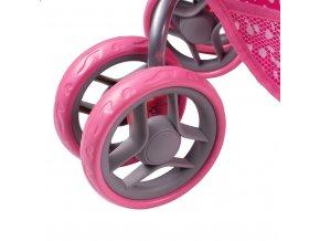 Multifunkčný kočík pre bábiky PlayTo Jasmínka svetlo ružový