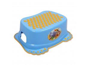 Detské protišmykové stúpadlo do kúpeľne modre