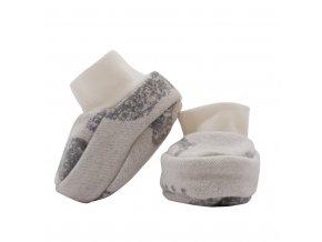 Zimné dojčenské capačky Baby Service Slony sivé