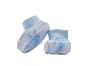 Zimné dojčenské capačky Baby Service Slony modré