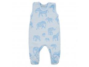 Zimné dojčenské dupačky Baby Service Slony modré
