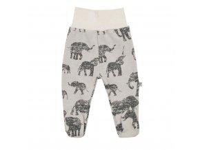 Zimné dojčenské polodupačky Baby Service Slony sivé