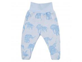 Zimné dojčenské polodupačky Baby Service Slony modré
