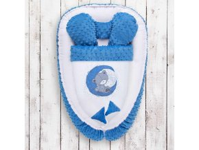 Hniezdočko s perinkou pre bábätko Minky Teddy Bear Belisima