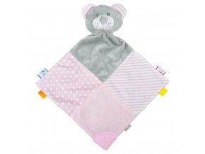 Zaspávačik Medvedík Baby Mix rúžový