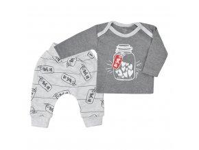 Tepláčky a tričko Koala Star To You sivé
