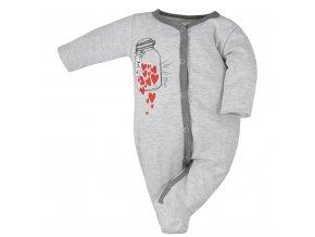 Dojčenský overal Koala To You svetlo sivý