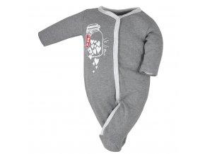 Dojčenský overal Koala To You sivý
