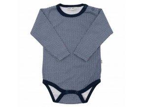 Dojčenské bavlnené body Baby Service Retro modré