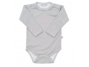 Dojčenské bavlnené body Baby Service Retro sivé