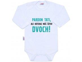 Body s potlačou New Baby Pardon tati,... máš šéfov dvoch!