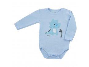 Dojčenské body s dlhým rukávom Koala Farm modré