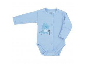 Dojčenské body celorozopínacie Koala Farm modré