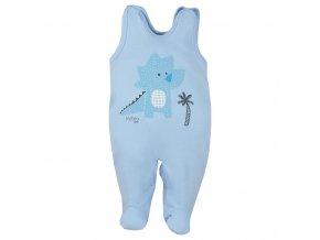 Dojčenské bavlnené dupačky Koala Farm modré