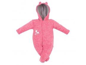 Dojčenský fleecový overal Baby Service Baby Deer