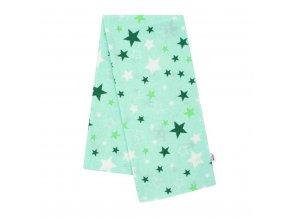 Flanelová plienka s potlačou New Baby zelená hviezdy zelené